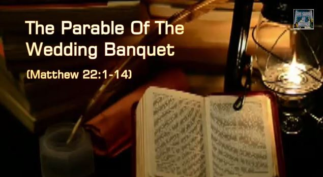 an analysis of the wedding banquet from hell The parable of the wedding banquet the king invites others to the wedding feast but expels because the bible refers to the recipients of grace as.